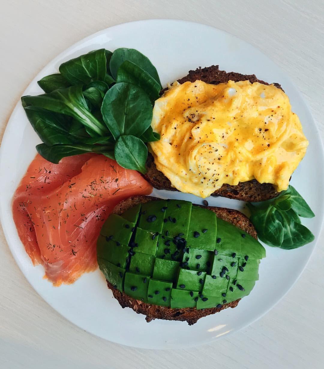 Ham And Avocado Scramble Recipe: Smoked Salmon Avocado Scrambled Eggs Spinach And Toast