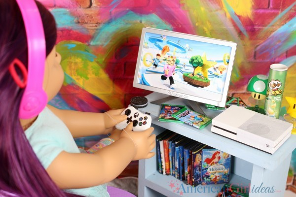 DIY American Girl Doll Xbox One Console • American Girl Ideas | American Girl Ideas #americangirlhouse