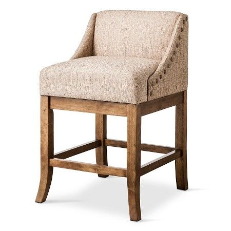 Low Back 24 Counter Stool With Nailheads Natural 24 Counter Stools Counter Stools Counter Stools With Backs