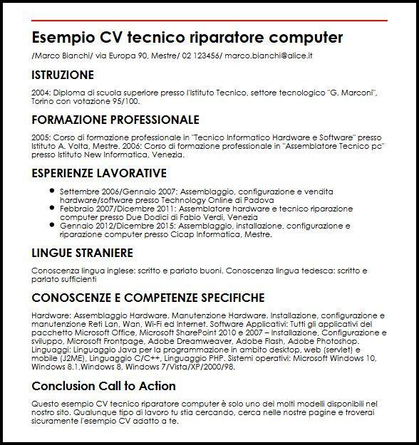 Curriculum Vitae Per Windows 8 Modelos De Curriculum Vitae Plan