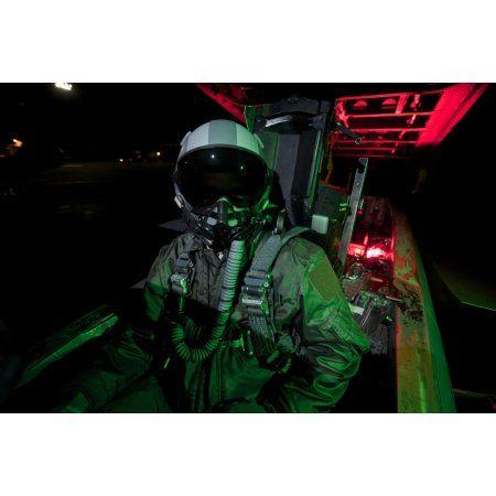 A US Air Force pilot sits inside the cockpit of a F-15C Eagle Canvas Art - Terry MooreStocktrek Images (35 x 23)