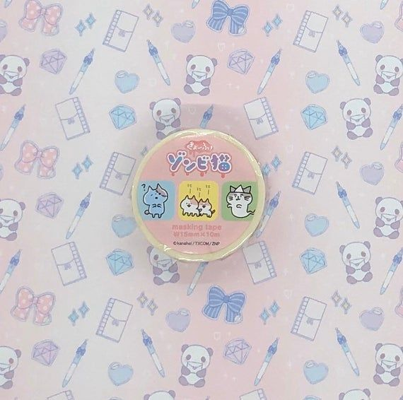 Washi tape, Kanahei, Zombi neko, Patterns15mm x 10mPlease follow my Instagram and get the 10% off coupon code:)@tokyostickerstoreFeel free to ask any questions about the product. *Please read the shop policy and FAQ before placing an order.