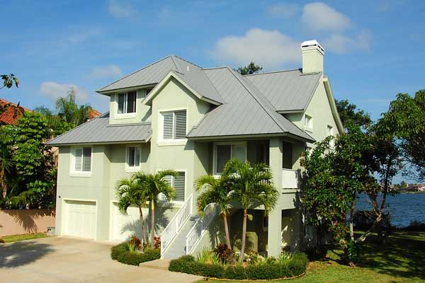 This Single Family Merritt Island Fl Home Has A Slate Grey Pvdf Finished Image Ii Roof Which Has A U Residential Metal Roofing Metal Roof Metal Roof Colors