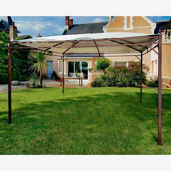 Toile Tonnelle 4 Pentes 3 5x3 5m Polyurethane Pvc Beige 400gr Maison Facile Www Maison Facile Com Chalet De Jardin Maison Facile Et Decoration Exterieur