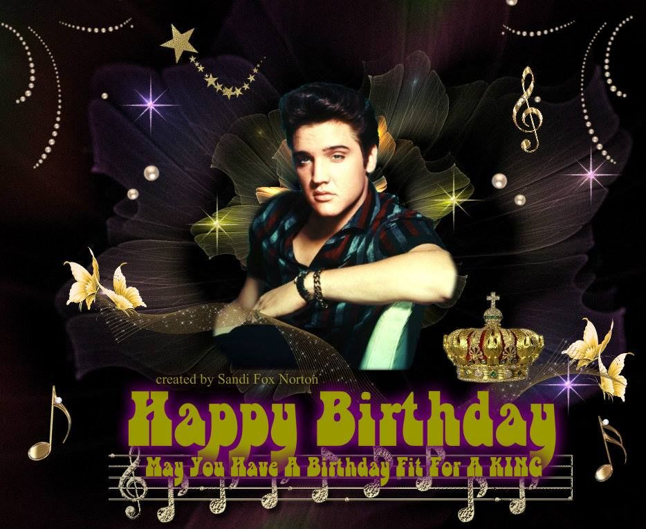 elvis presley birthday | ... just added to it and made a birthday card out of it…