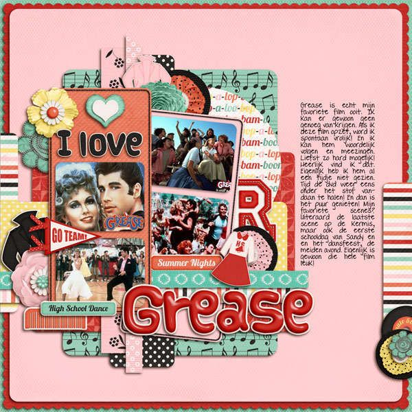Back to The 70s Scrapbook Page Kit