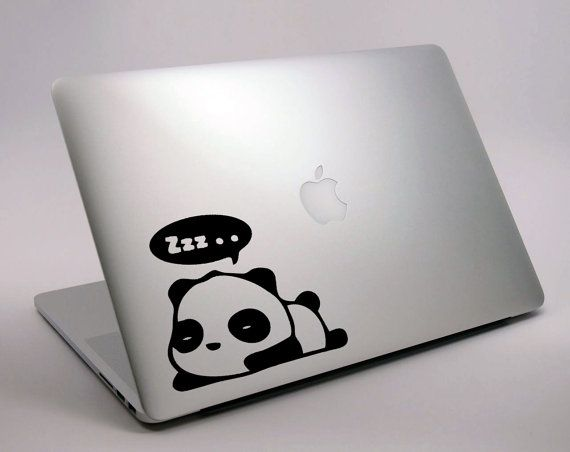 Cute Sleeping Panda Vinyl Sticker Decal Skin For Apple Mac Macbook - Cute custom vinyl stickers   for business