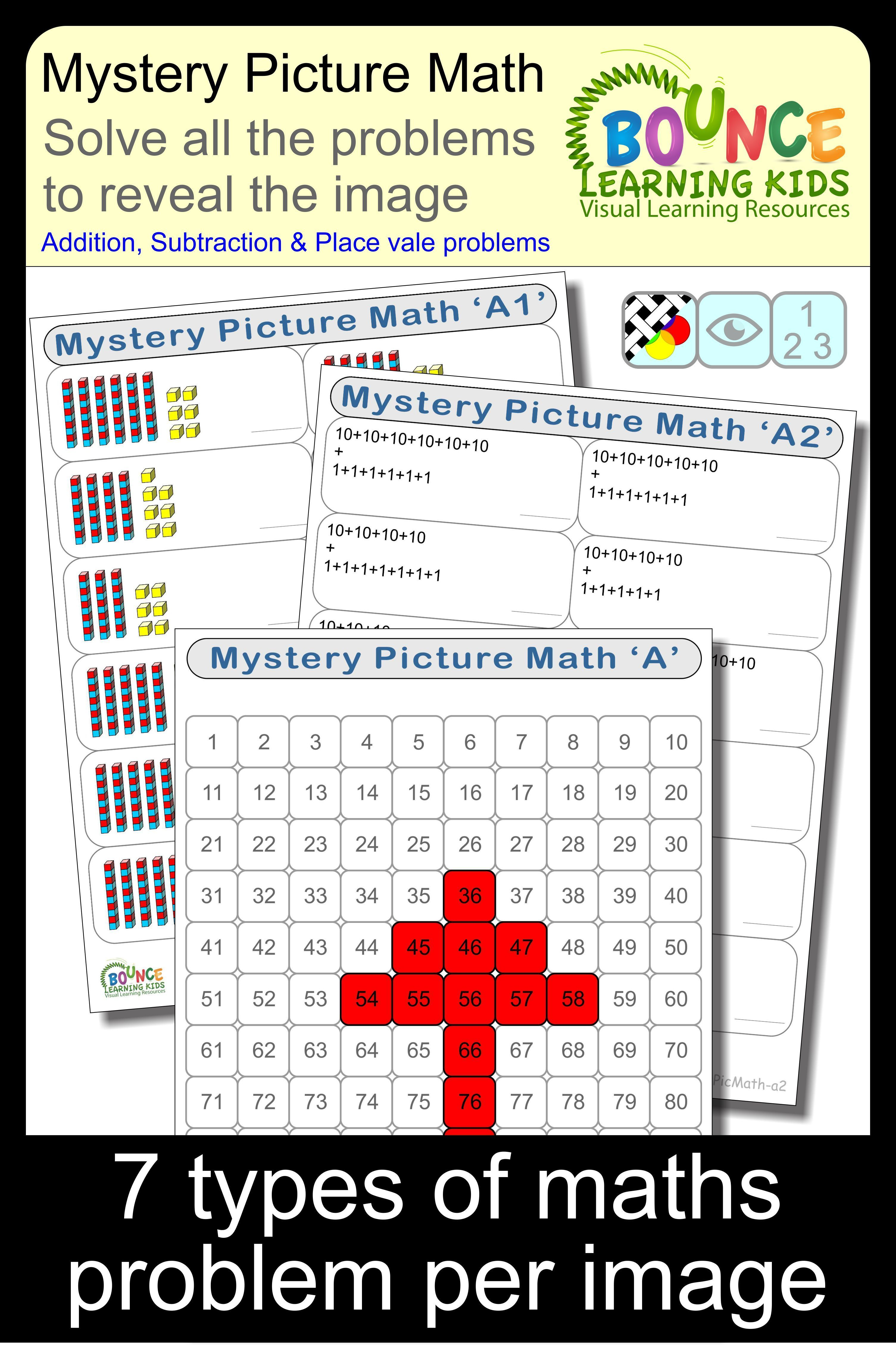 Mystery Picture Math A Distance Learning Worksheets For