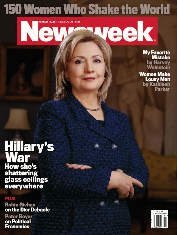 Hillary Clinton ~ How she's shattering glass ceilings everywhere.  ~ March 14, 2011