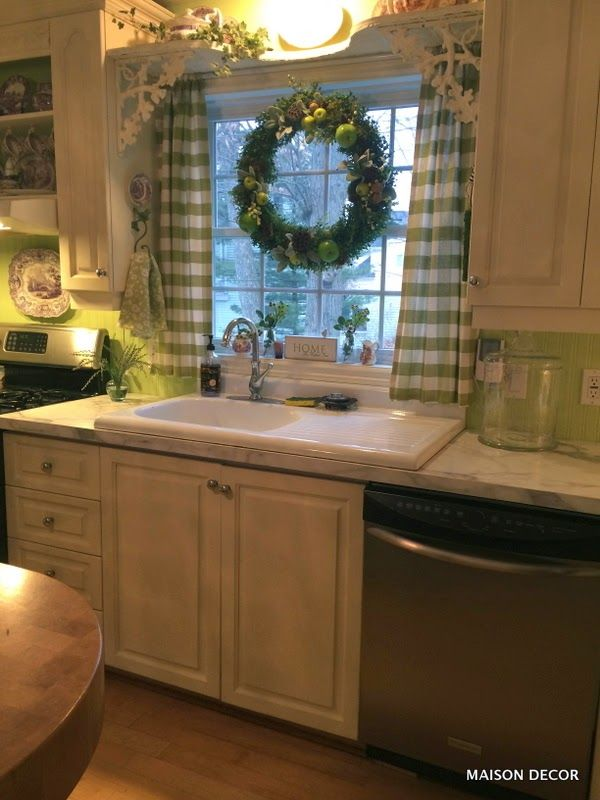 A Kitchen Update With Apple Green Paint In 2019 Country