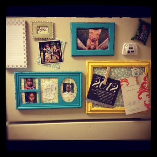 Diy Fridge Magnet Picture Frame Diy Pinterest Diy Diy Home