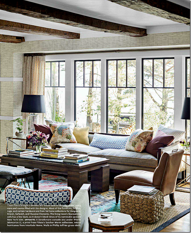 50 Lake House Living Room Decor Ideas: Layered Rugs...lots Of Different Colors In Throw Pillows