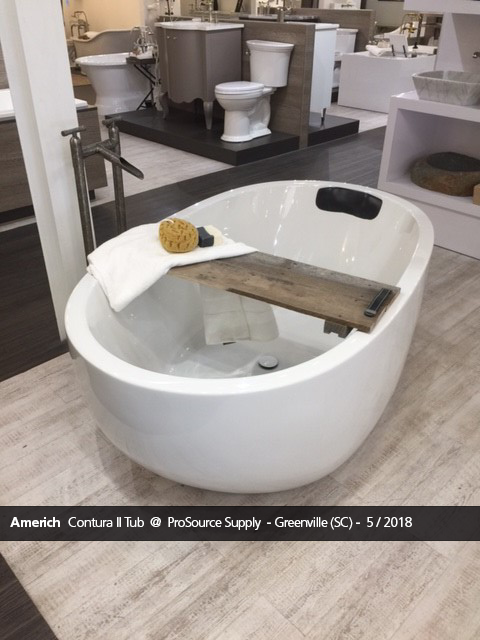 contura ii bathtub displayed at prosource in greenville, sc