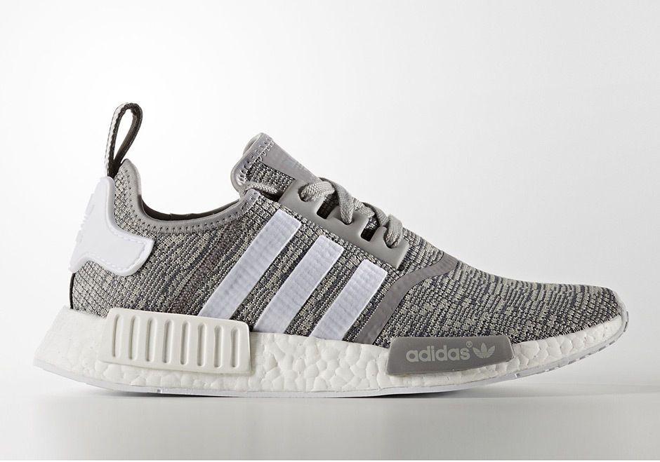 Adidas Mens Originals NMD R1 Running Shoes Grey/White BB2886 b