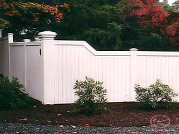 Vinyl Fencing On A Slope