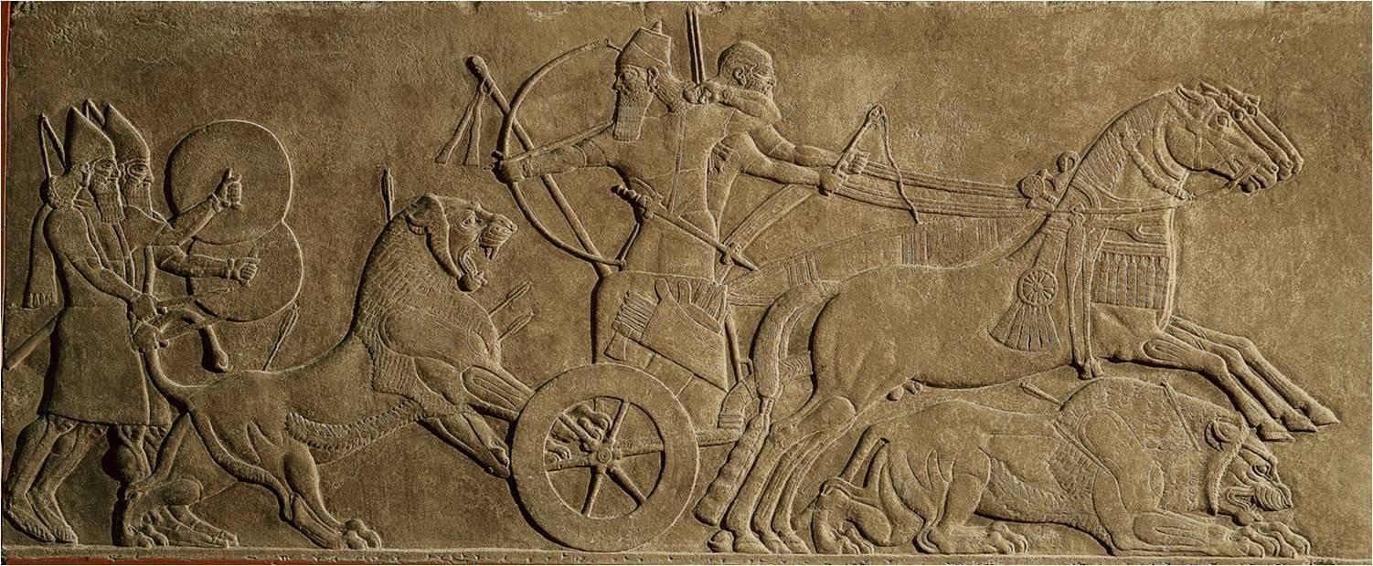 Assurnasirpal II Killing Lions Ch 2 Pg 40 Fig 2 10 C 875 860 BCE Pres