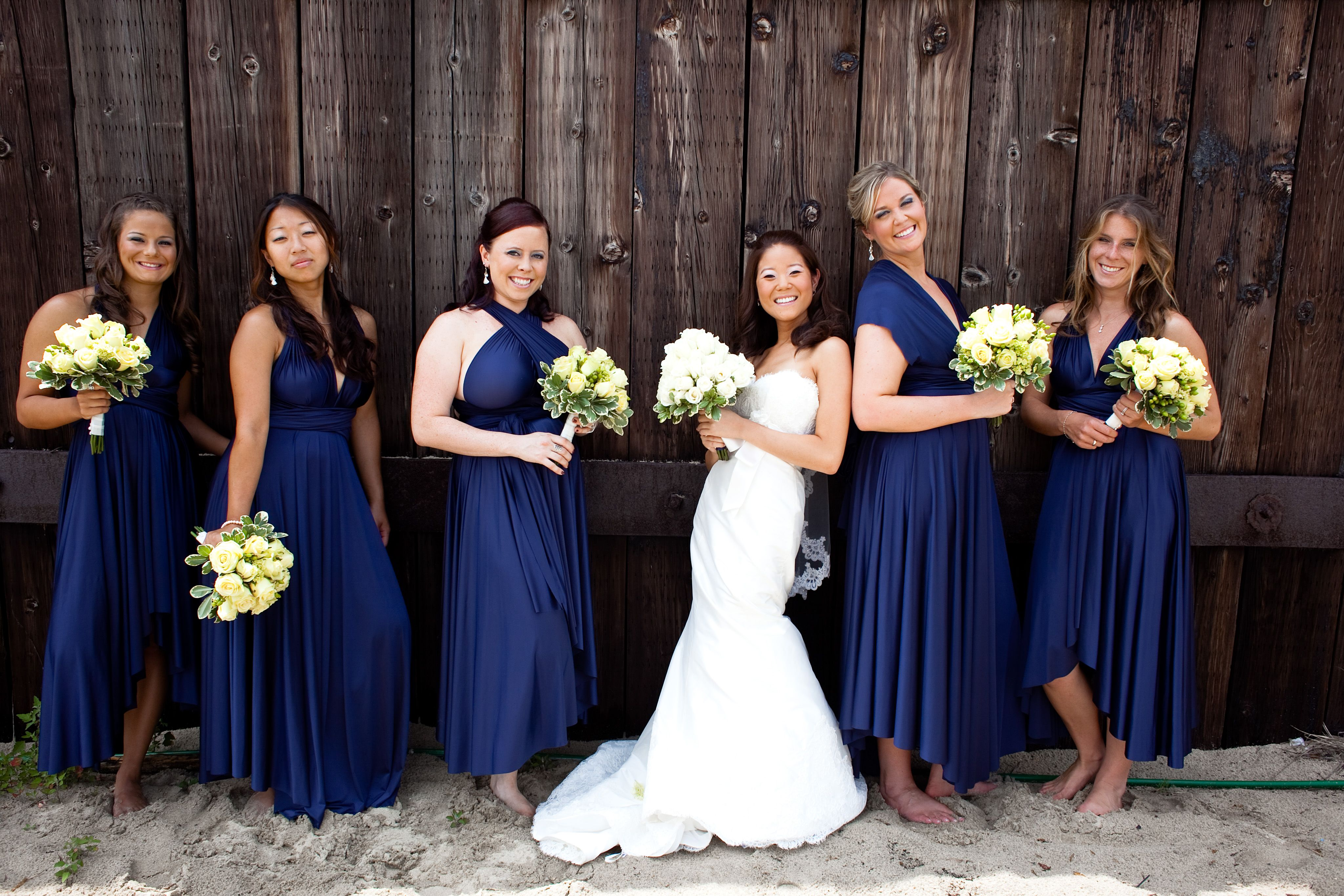 Sapphire ballgowns twobirds bridesmaid dresses a real wedding sapphire ballgowns twobirds bridesmaid dresses a real wedding featuring our multiway convertible dress ombrellifo Image collections