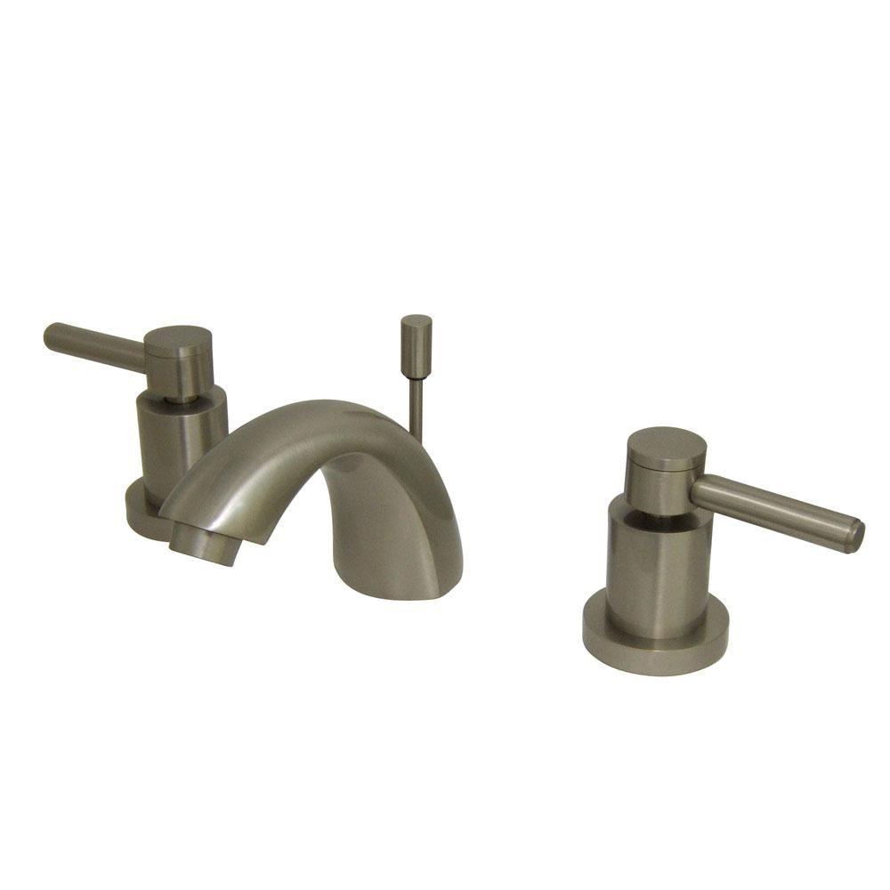 Kingston Brass Abington 4 In Minispread 2 Handle Bathroom Faucet In