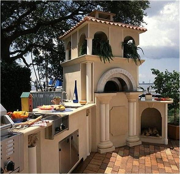 Renato's Wood Burning Pizza Oven.  Pizza Ovens can go inside or out!