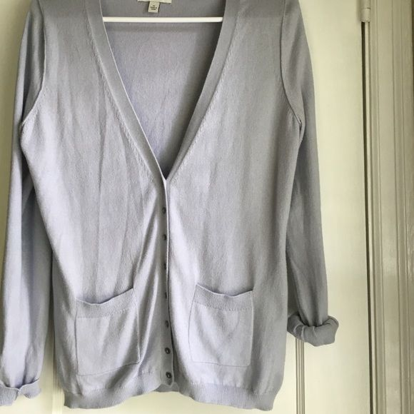 Clearance Final Price Blueish Grey Cardigan Blueish grey cardigan--has some pilling starting under arm area--overall still in good condition! Banana Republic Sweaters Cardigans