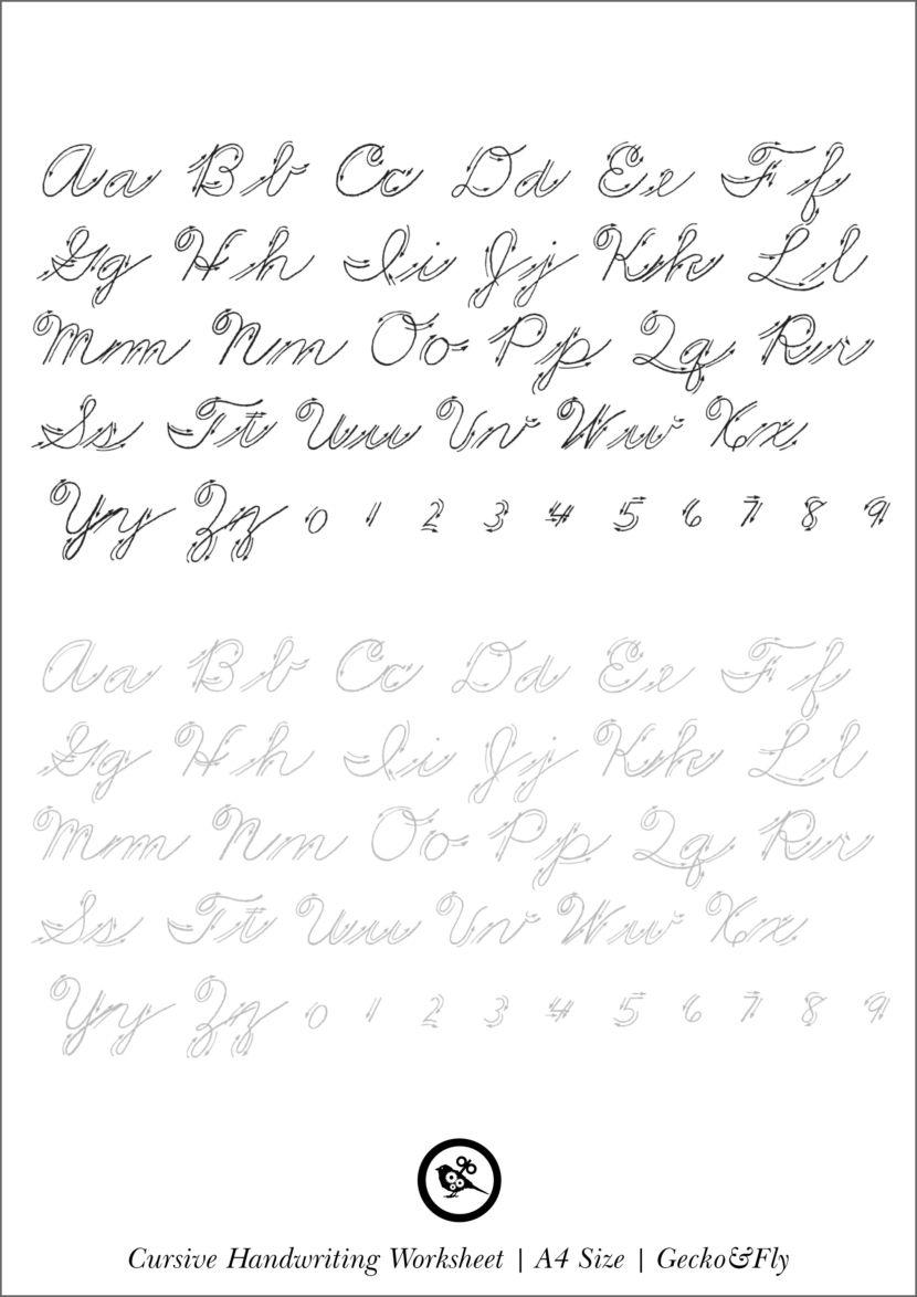 5 Printable Cursive Handwriting Worksheets For Beautiful Penmanship   Cursive  handwriting worksheets [ 1174 x 830 Pixel ]