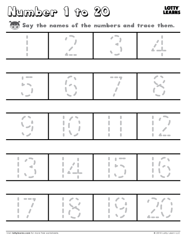 Learn to write the numbers from 1 to 50.Use the dashed lines to help ...