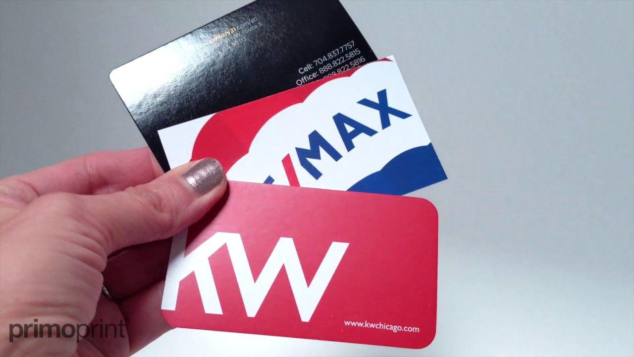 Glossy Uv Semi Gloss And Matte Card Stock Comparison Primoprint Business Card Stock Card Stock Cards