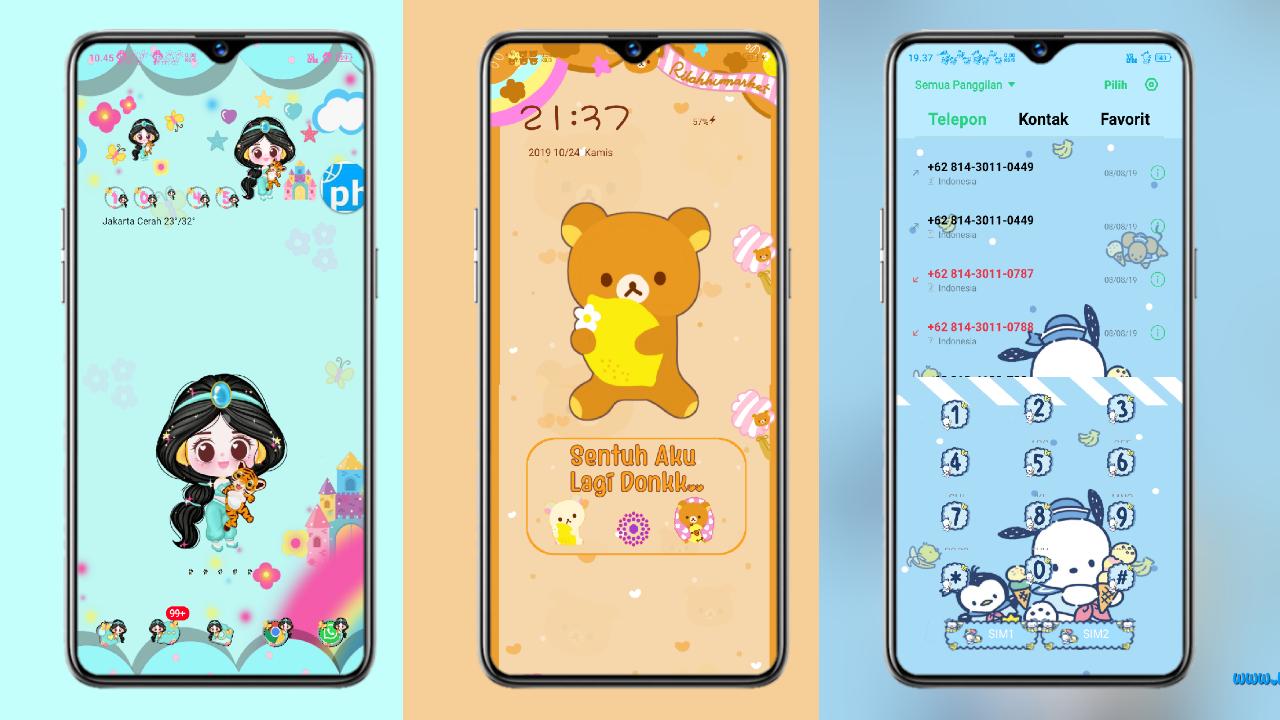 Tema Oppo Tembus Akar Untuk Coloros 6 V804 Ndaila Theme Biru Dan Putih Wallpaper Lucu Aplikasi Iphone