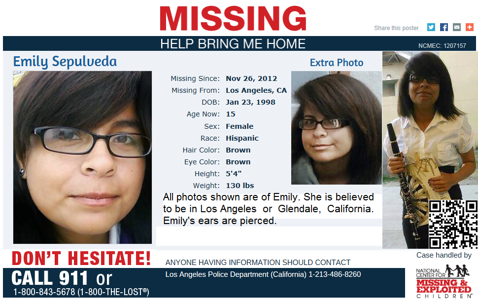 Emily S Family Needs Our Help Finding Her She Has Been Missing For Over A Year Now Emily Sepulveda Age 15 Missing S Hispanic Hair Amazing Stories Sepulveda