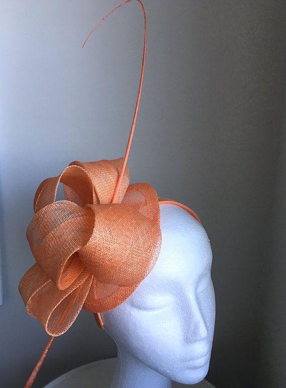 TheHeadwearBoutique on Etsy- Cara Light Orange   Tangerine   Salmon Orange  Fascinator 2837fdaa3db