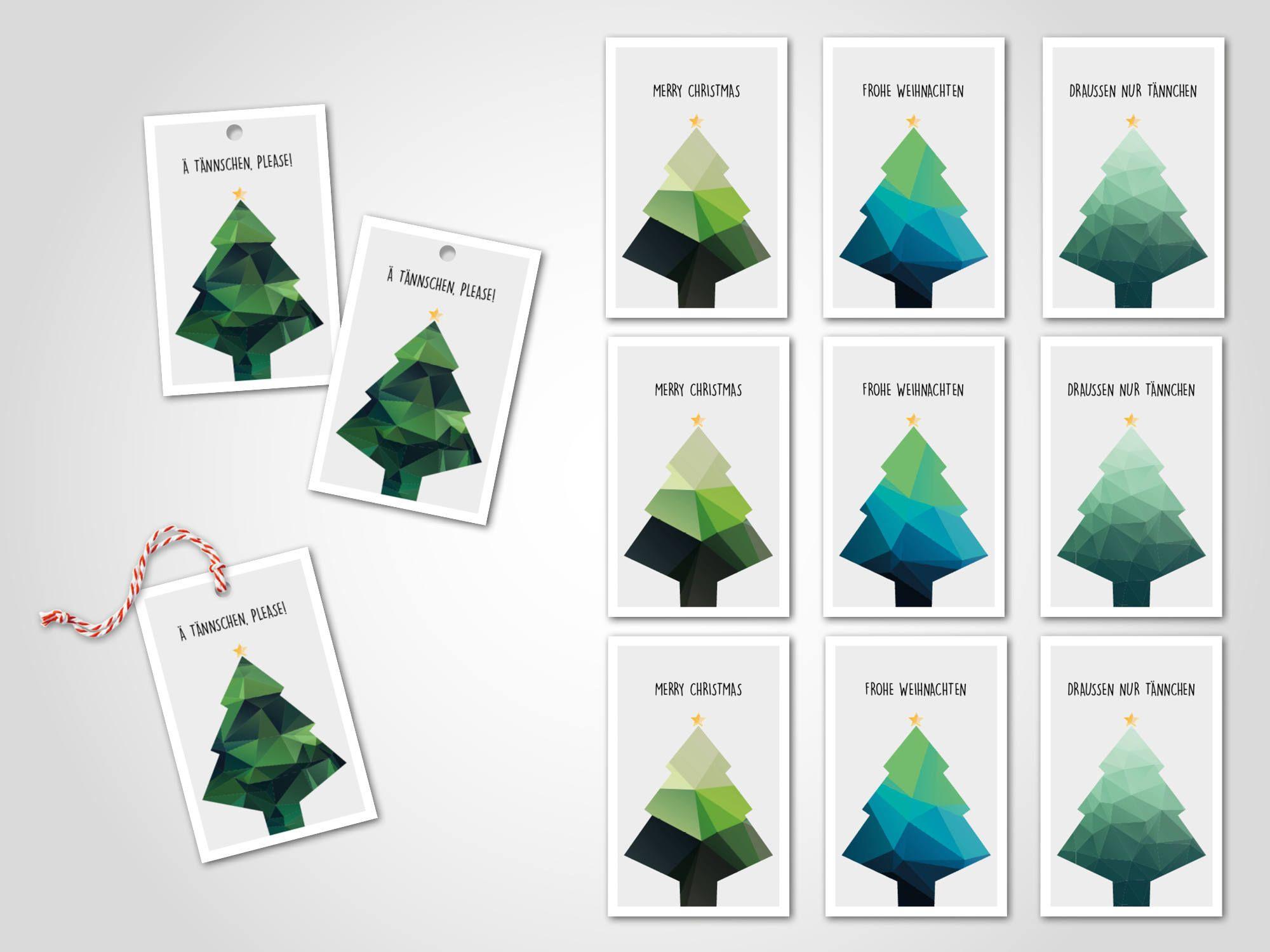 12 x Geschenkanhänger / Christmas, Geschenk, Karte, Grußkarte ...