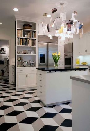 Escher effect, Linoleum Can Be Beautiful - Take Another Look: Vinyl & Linoleum Tiles Can Actually Look Good (Really!)