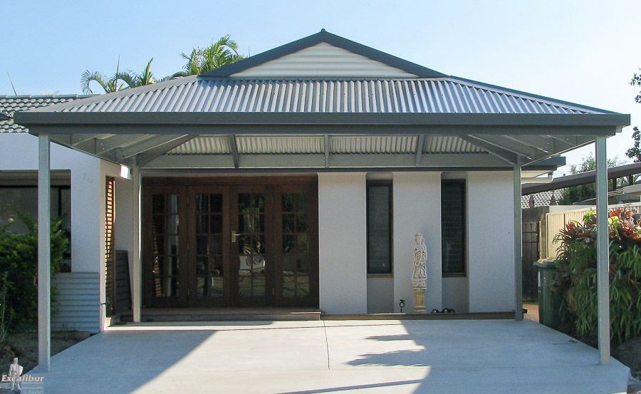 Dutch Gable Double Carport Designed To Add To The House As Part Of