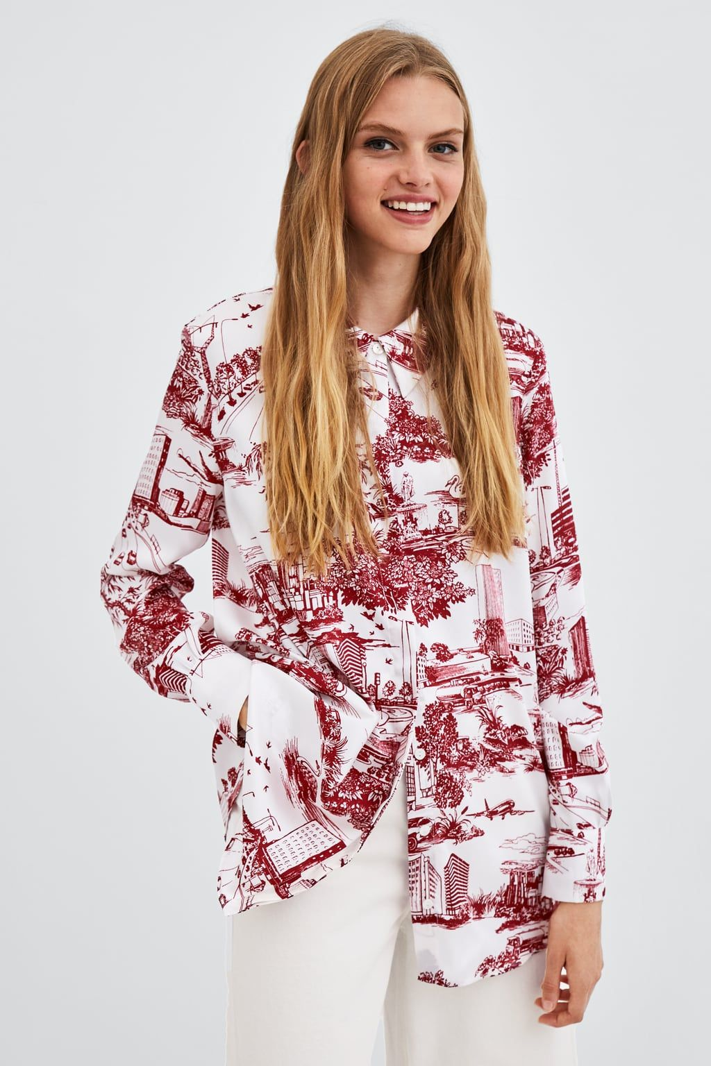 dd902a57 Image 2 of CITY PRINT SHIRT from Zara | PRINT INSPIRATION in 2019 ...