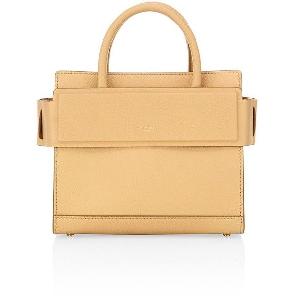 8083bf23f9 Horizon mini leather tote by Givenchy. Structured leather silhouette with  banded top panelDouble top handles