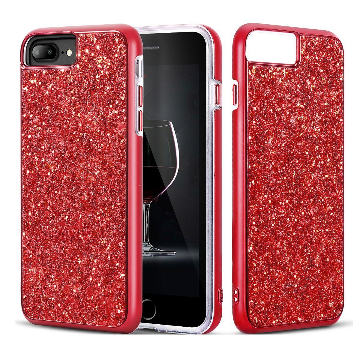 iphone 7 plus shockproof case red