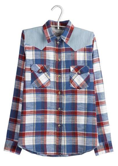 Chemise à carreaux Rouge by LEON   HARPER   Fashion Wishlist ... 553ea5418340