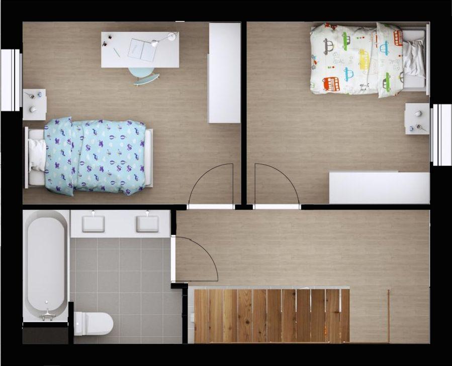 Modèle de Maison - Plan Gratuit Maison TERA (étage) Composée au rez - plan d une belle maison