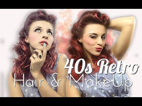 Faux Victory Rolls Vintage Hair Tutorial by CHERRY DOLLFACE - YouTube