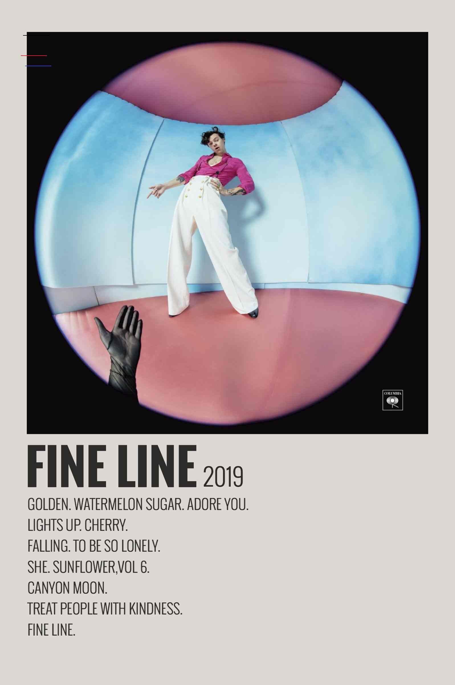 Alternative Minimalist Music Album Poster - Fine Line by Harry Styles