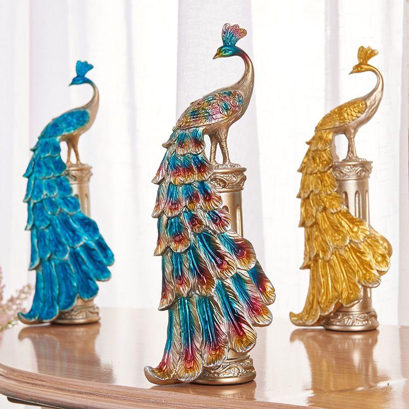 Peacock Decoration home accessories European creative ...