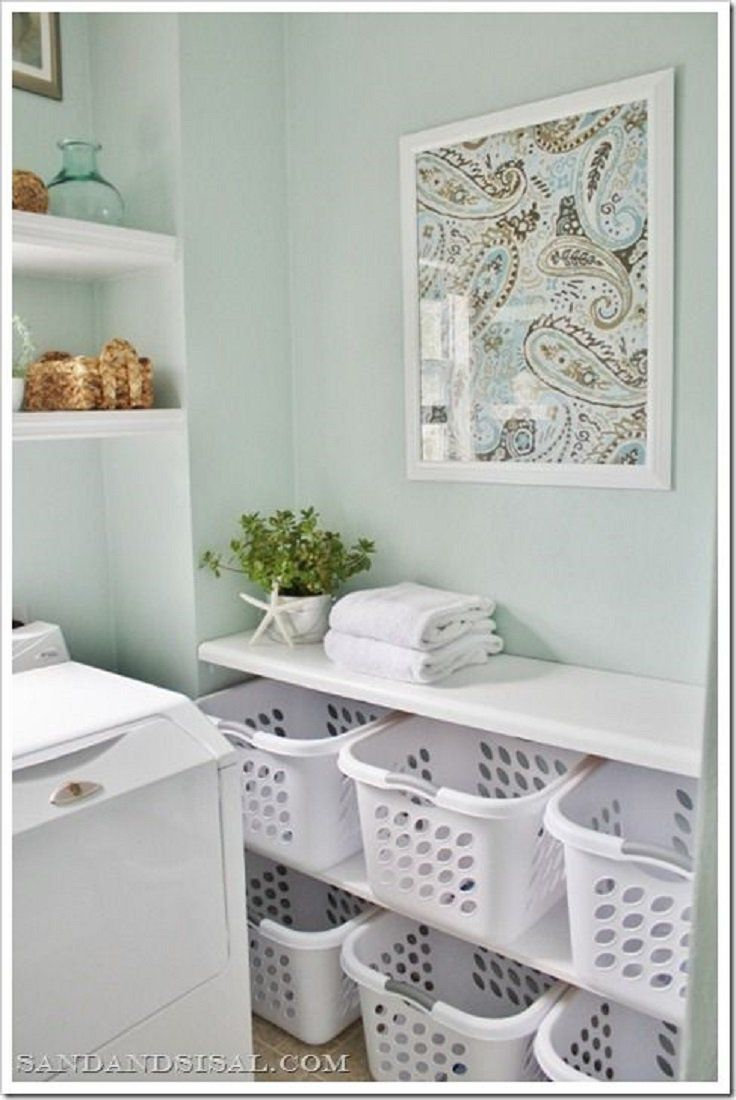 20 Awesome Laundry Room Storage and Organization Ideas #organizedlaundryrooms