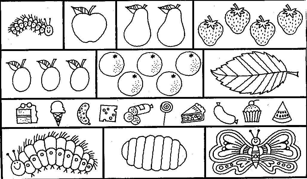 very hungry caterpillar coloring pages. awesome eric carle ...