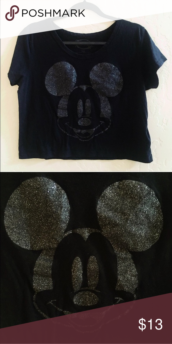 6678a14f6b1 Spotted while shopping on Poshmark  Disney Mickey Mouse Boxy Crop Top!   poshmark  fashion  shopping  style  Disney  Tops