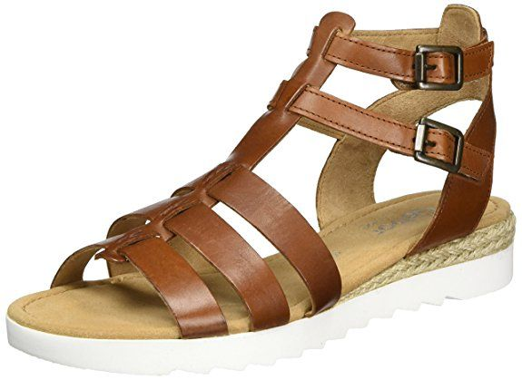 Gabor Shoes Damen Comfort Römersandalen, Braun (Peanut (Jute