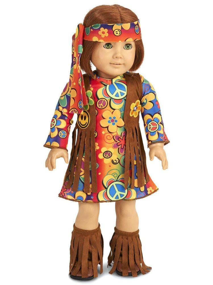 Hippy Costume for 18  American Girl Doll Halloween #NotAmericanGirl  sc 1 st  Pinterest & Hippy Costume for 18