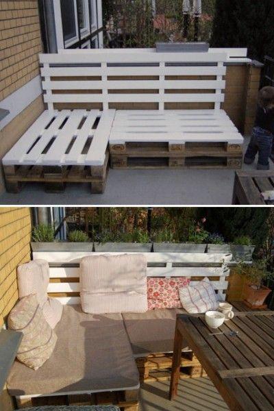 couch aus paletten für draußen | paletten - recycling, Gartengerate ideen