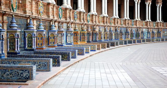 Resultado de imagen de ceramica Plaza de España de Sevilla