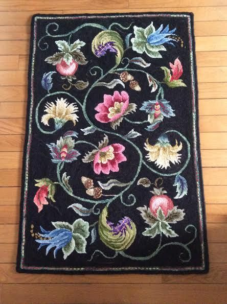 Dowry Rug Hand-hooked by Sandy Ducharme