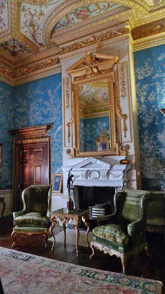 Interior de castillo Houghton Hall, una de las más grandes casas de - interiores de casas